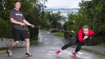 Kaitlyn McGregor (r.) und ihr Bruder Ryan haben den Eissport quasi im Blut: Ihr Vater war Eishockey-Trainer.Herve Le Cunff/RDB/SiI