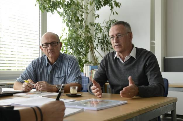 Die beiden Kantilehrer und GIS-Experten Bernhard Marti (links) und Raymond Treier.
