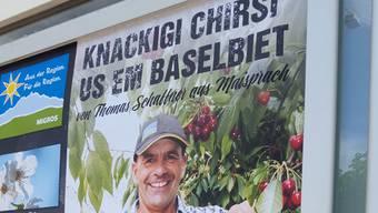 Thomas Schaffner aus Maisprach hat ein Drittel der Kirschernte retten können.