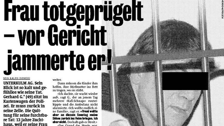 So berichtete «Blick» am 14. Januar 2004 über den Prozess.