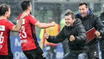 Der FC Aarau durchlebt ein Wellenbad der Gefühle nach einem Thrillerspiel gegen den FC Winterthur