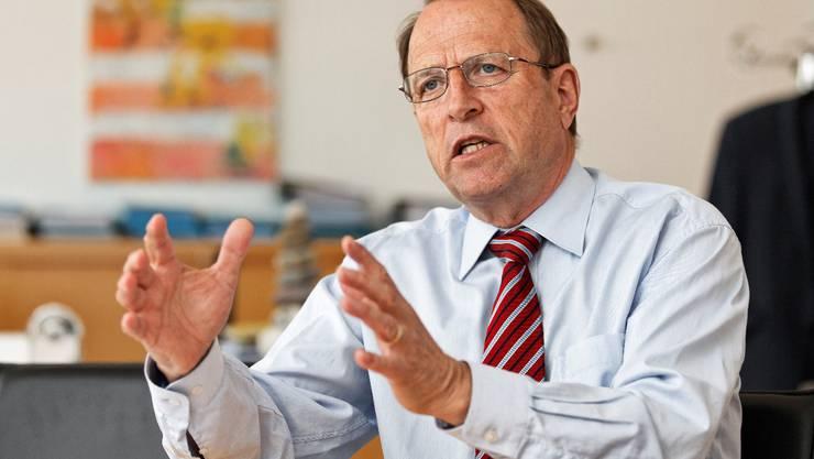 In der Verkehrspolitik wünscht sich Baudirektor Peter C. Beyeler langfristiges Denken. (Foto: André Albrecht)