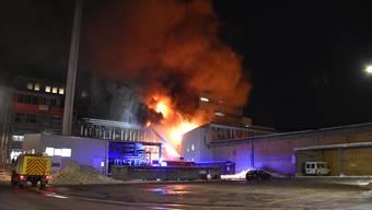 Brand bei der Ems-Chemie in Domat/Ems.