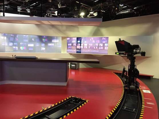 Aus diesem Studio werden die Nachrichten und das 10vor10 gesendet. Foto EE