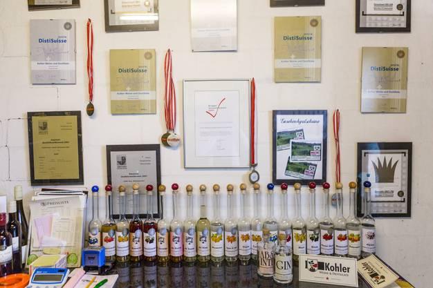 Die Destillate der Familie Kohler heimsen regelmässig Preise ein.