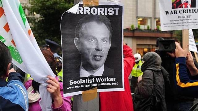 Proteste gegen Blair in Dublin