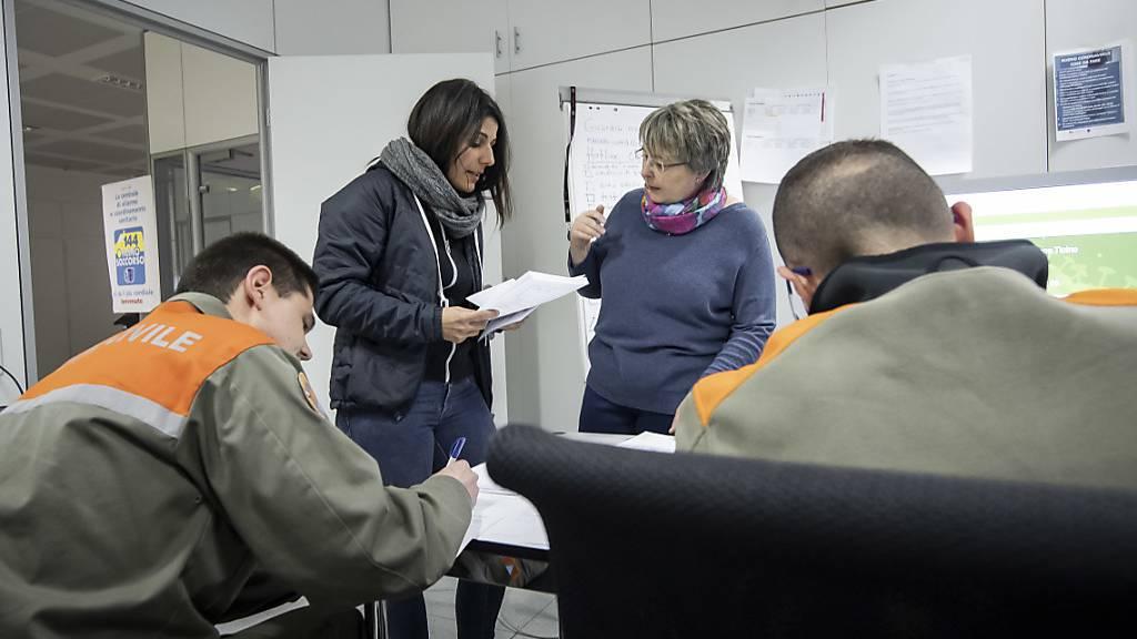 Luzerner Führungsstab koordiniert Freiwilligenarbeit
