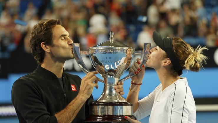 Den Titel am Hopman Cup verteidigt: Roger Federer und Belinda Bencic starten, wie bereits schon 2018, überzeugend in das neue Jahr.