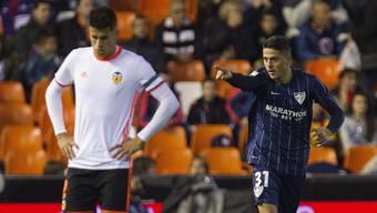 Hängende Köpfe bei Valencia nach dem 2:2 gegen Malaga