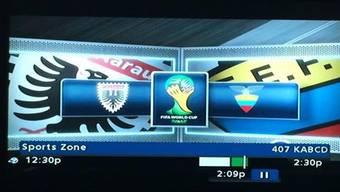 Hat ABC 7 wirklich das Logo unserer Nati mit dem FC Aarau-Emblem verwechselt?