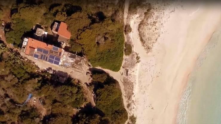 Das inzwischen baufällige Haus von Morandi. (Screenshot: arte.tv )
