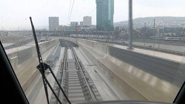 Durchmesserlinie: Testfahrt über die längste Brücke der Schweiz