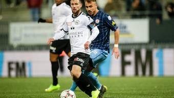 Sandro Lombardi im Einsatz gegen Winterthur. (Bild:Marc Schumacher/freshfocus)