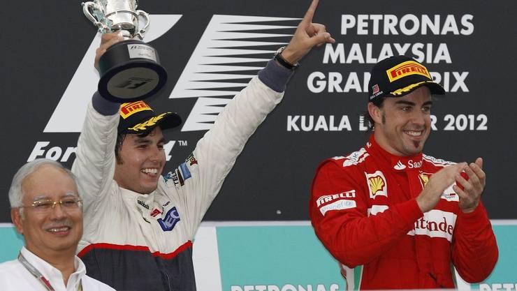 Der grosse Jubel des Sergio Perez