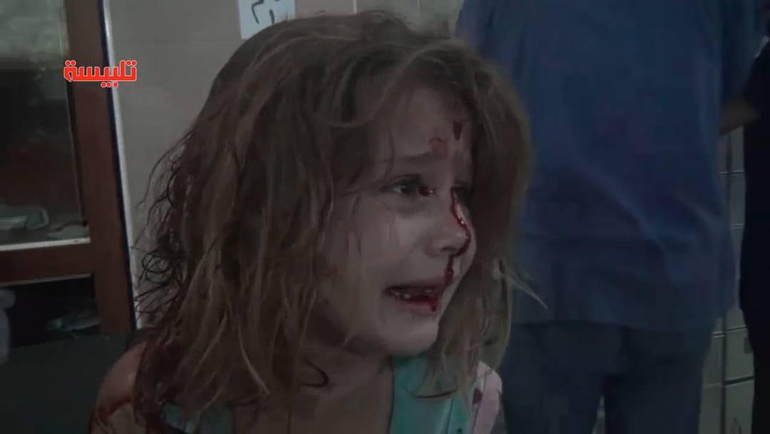 Die Angst steht ihr ins Gesicht Geschrieben: Aya nach dem Luftangriff.