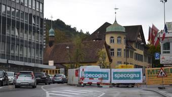 Unter dem Lindenplatz in Baden wird die Decke des SBB-Tunnels ersetzt.