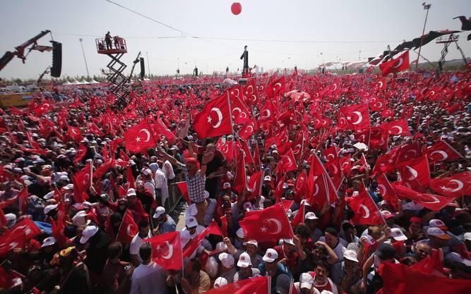 Grosskundgebung von Erdogan in Istanbul (2)
