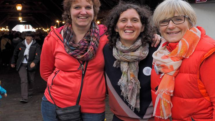 Der Koffermarkt ist auf ihrem Mist gewachsen: (vl) Petra Tassile, Tanja Klay und Doris Meister.