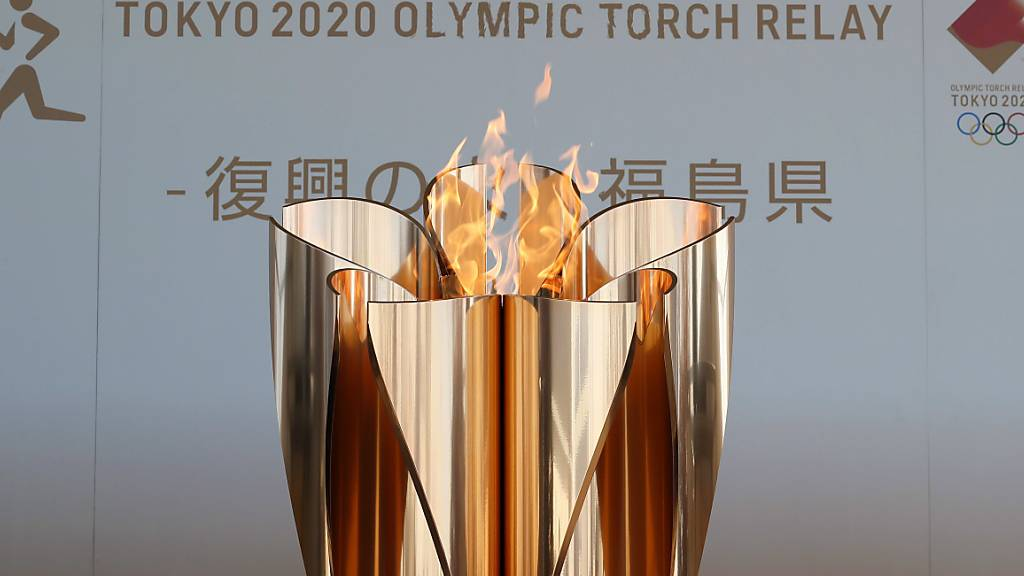 Olympisches Feuer bis Ende April in Fukushima