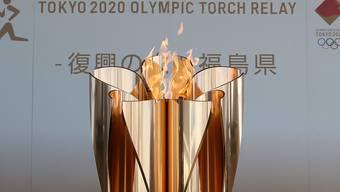 Das olympische Feuer bleibt bis Ende Monat in Fukushima