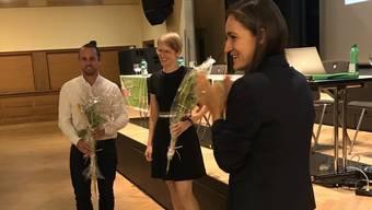 Das neue Führungs-Duo (von links): Simon Meyer und Selma L'Orange Seigo neben der abtretenden Marionna Schlatter (ganz rechts).