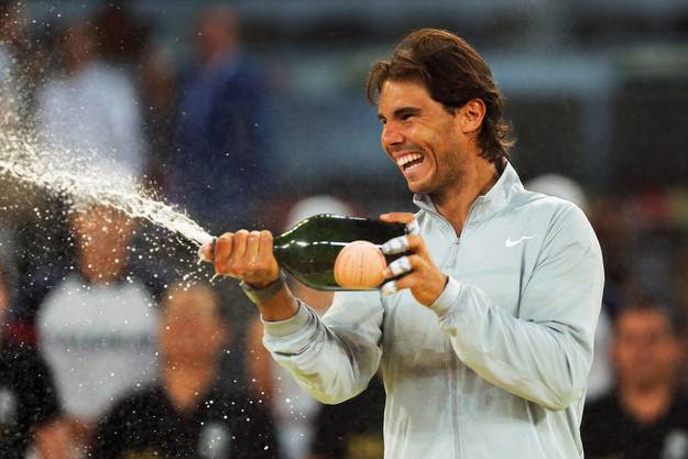 Rafael Nadal mit Champagner