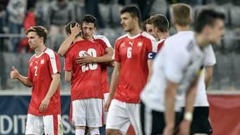 Die Schweizer U20-Nationalmannschaft bezwingt die U20-Auswahl von Deutschland.