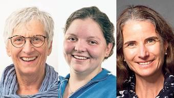 Diese drei Frauen wollen in den Gemeinderat: Marianne Bitterli-Rupp, Christine Iten und Anne-Marie Kneller (v.l.).