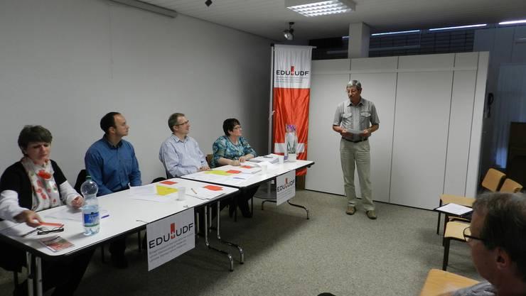 Vorstand EDU mit Johann Kiener, Kantonaler Vizepräsident