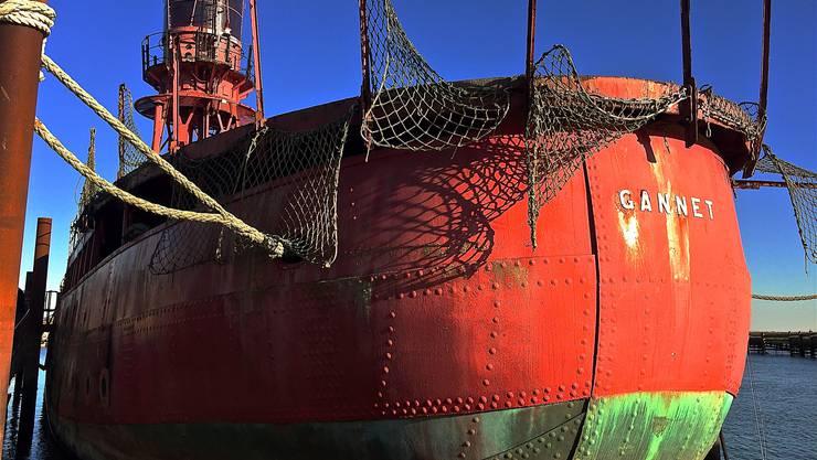 Dieses Feuerschiff soll in den kommenden Jahren für kulturelle Höhenpunkte am Hafen sorgen.