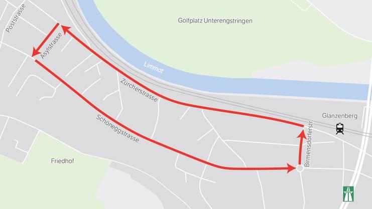 Dieser Grosskreisel gilt in Dietikon-Ost von Mitte 2019 bis Mitte 2021