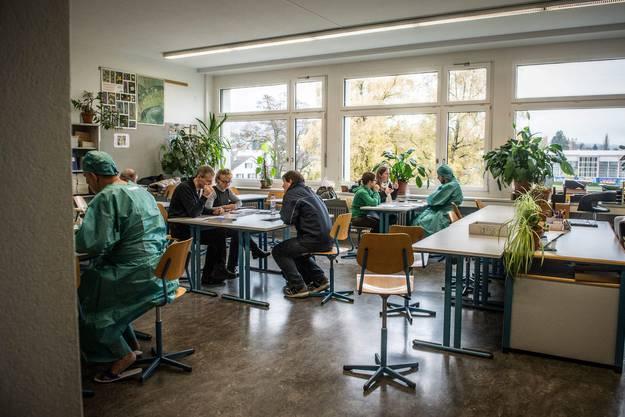 Impressionen von der Gesamtnotfallübung in Reinach nach einem Störfall im AKW Leibstadt