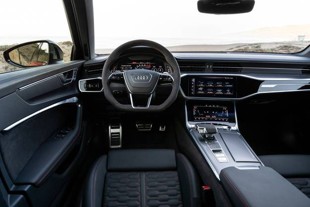 Auch von innen elegant und modern: der Audi RS6.