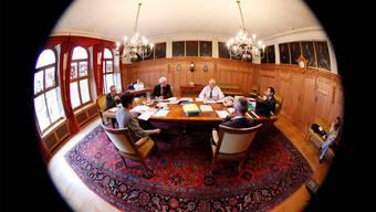 Ein Blick in die Regierungsratssitzung (Archiv)