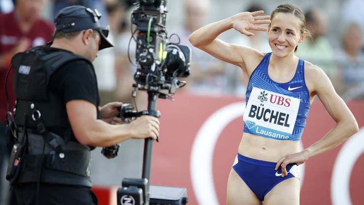 Selina Büchel war mit ihrem Auftritt in Lausanne zufrieden. (KEYSTONE/Valentin Flauraud)