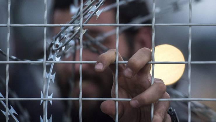 Flüchtling an der geschlossenen griechisch-mazedonischen Grenze. Der TV-Sender Arte arbeitet derzeit an einer Mini-Serie zum Thema Flüchtlingskrise.