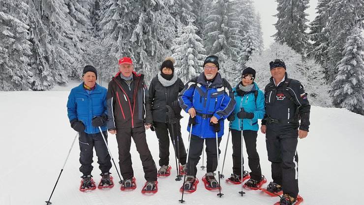 unsere Schneeschuhwanderer