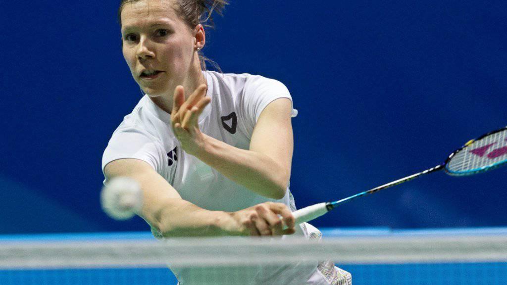 Sabrina Jaquet scheiterte an der WM in Basel im Einzel bereits in der ersten Runde
