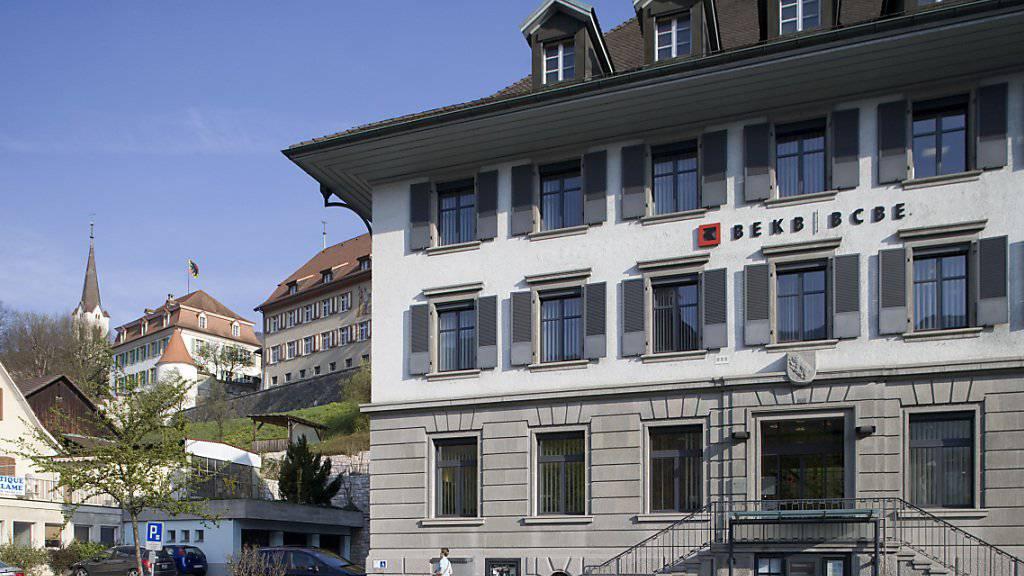 Die Berner Kantonalbank konnte ihr Privat- und Firmenkundengeschäft im vergangenen Jahr weiter ausbauen. (Archiv)