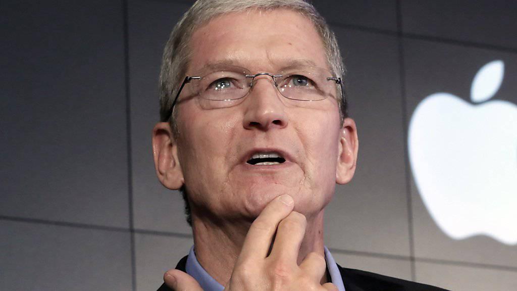 Apple-Chef Tim Cook: Nach der Niederlage in einem Patentstreit muss der US-Konzern eine US-Hochschule in Millionenhöhe entschädigen. (Archivbild)