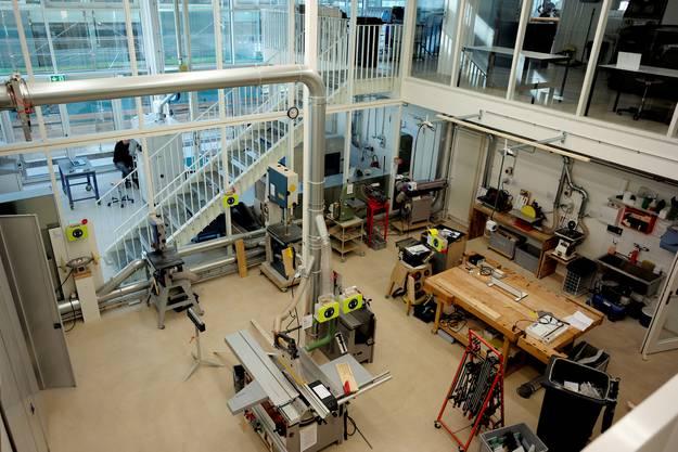 Die Werkstätten im neuen Campus.