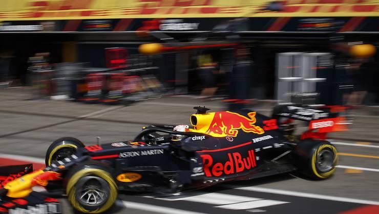 Nach 1,88 Sekunden wieder weg: Max Verstappen.