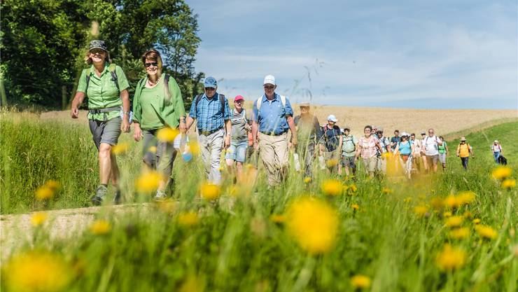 Zum ersten Mal haben dieses Jahr über 3000 Menschen beim az-Leserwandern mitgemacht. Von der Wanderlust profitieren auch die Sportgeschäfte.Patrick Züst
