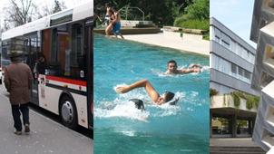 Würde schmerzen: Sparen bei Bus, Bad oder öffentlichen Gebäuden.