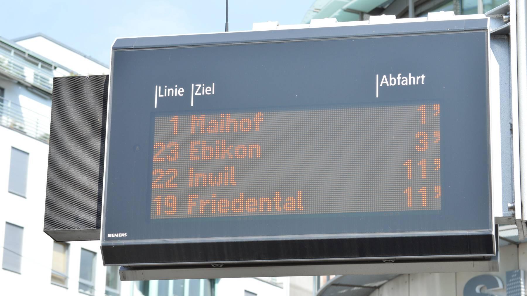 Ausbau des Luzerner Busnetzes mit dem Fahrplanwechsel
