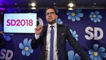 Jimmie Åkesson: Seine Schwedendemokraten fuhren ein starkes Ergebnis ein.