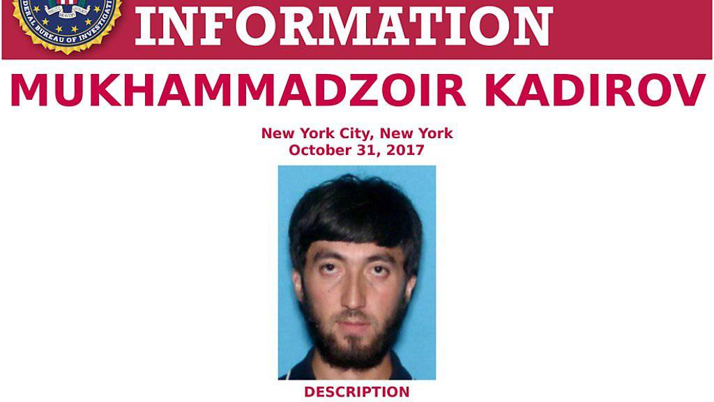 Die USA haben einen weiteren Terrorverdächtigen wegen des Anschlages in New York zur Fahndung ausgeschrieben und diese Person schnell gefasst.