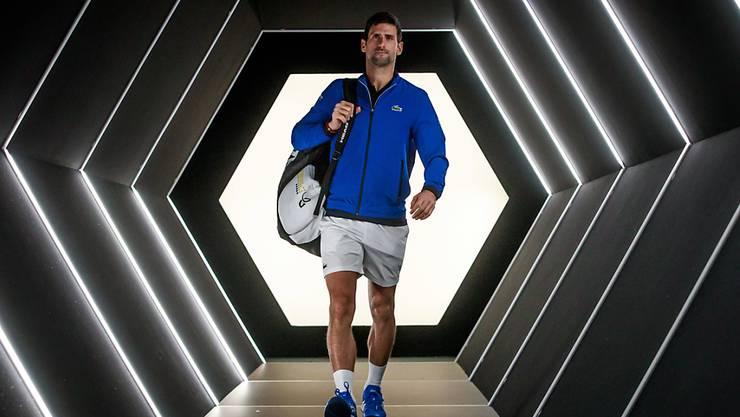 Im Fokus und immer besser in Form: Novak Djokovic am Masters-1000-Turnier in Paris-Bercy