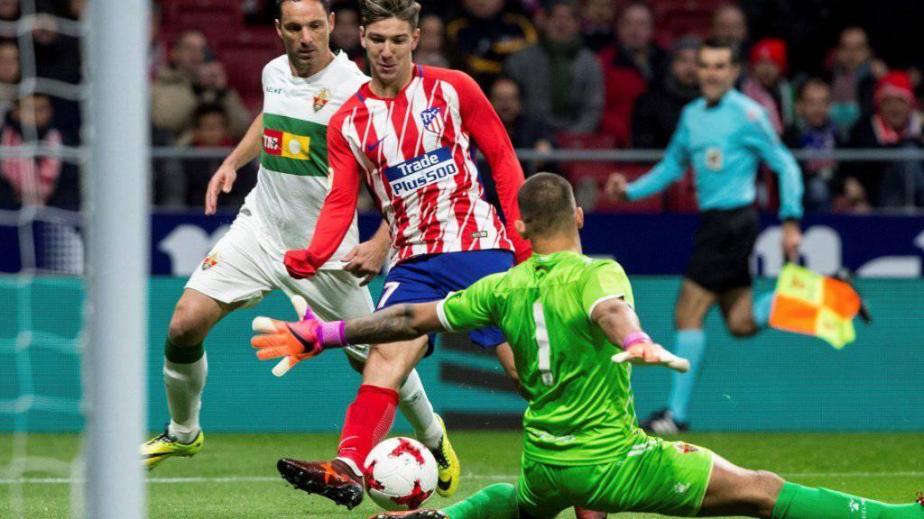 Atlético Madrid, hier mit Stürmer Luciano Vietto, bangt in der Gruppe C ums Weiterkommen