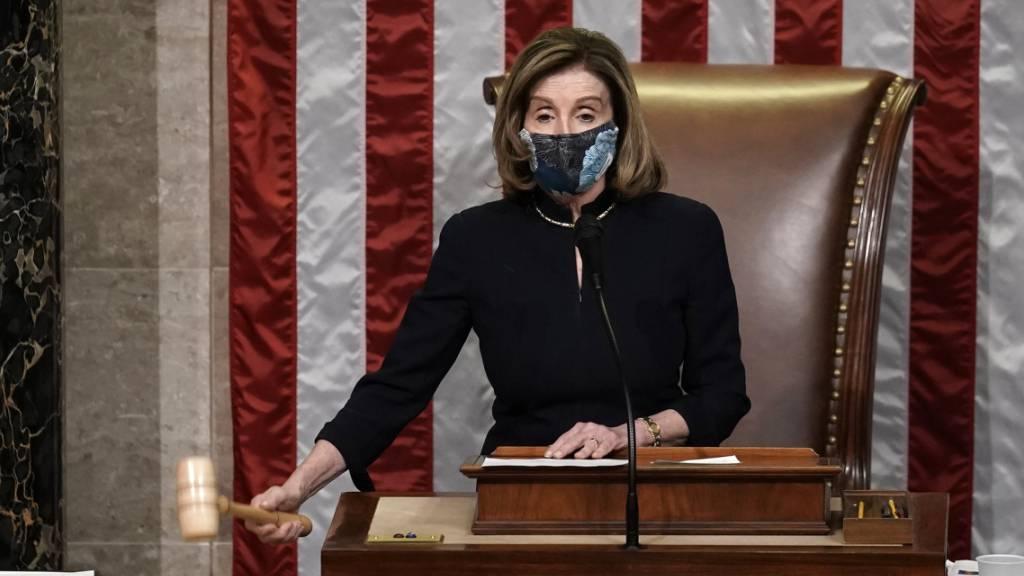 dpatopbilder - Nancy Pelosi, Sprecherin des Repräsentantenhauses. Foto: J. Scott Applewhite/AP/dpa